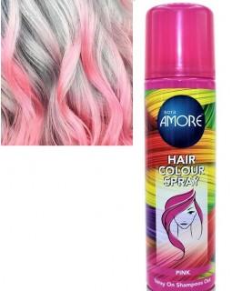 Лак для волос однотонный розовый