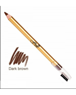 E-7616 Dark Brown Карандаш для глаз со щеточкой