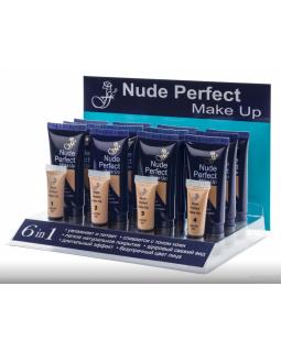 FT-17 (№1-4) Основа под макияж NUDE PERFECT MAKE UP + 4 тестера (*12)