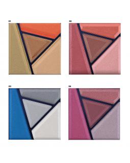 E-224S (набор 1-4) Тени для век Glam Look 4-х цветные (*6)