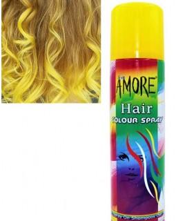 Лак для волос однотонный желтый