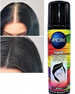 Лак для волос черный закрашивание седены